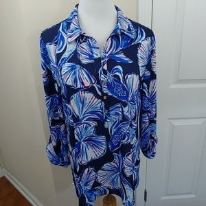 Lily Pulitzer Everglades Reel Life Blouse